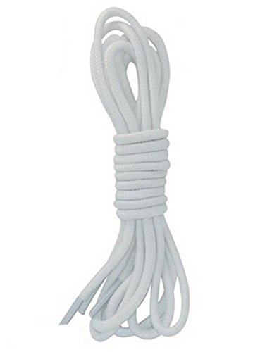 Blancho 2 Pairs Round Shoelaces for Hiking Athletic Sport Shoe Shoestrings, White