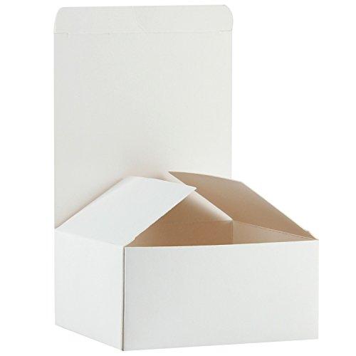 RUSPEPA Karton Geschenk-Boxen 13 X 13 X 8Cm, 30 Pack Kleine Geschenkbox Mit Deckel Für Handwerk, Cupcake Und Kekse (Weiß)