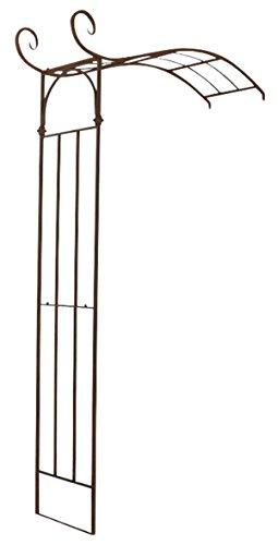 Arche à Rosiers en fer coloris bronze - 230 x 155 x 40 cm - PEGANE -