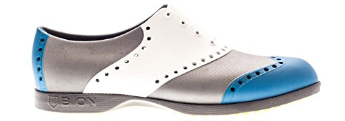WINGTIPS / BLUE, WHITE & SILVER 36