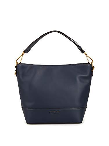 Polo Ralph Lauren Shopper Hobo S in Pelle blu scura 428728355006 Blu Donna
