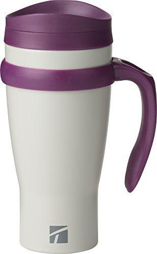 Trudeau Travel Mug (Trudeau Maison Drive Time 18 ounce Stainless Steel Travel Mug - Grey/Purple by Trudeau)