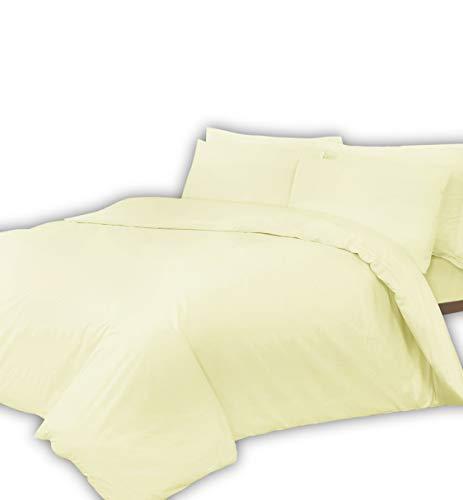 T400Fadenzahl reine Ägyptische Baumwolle Super Soft Hotel Qualität Flach Bett Blatt, cremefarben, Oxford Pair Pillow Cases - Bett-blatt