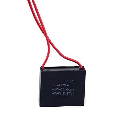 LETAOSK Hochwertiger CBB61 Kondensator 5uf 2-Leiter 50/60Hz 450VAC für Deckenventilator