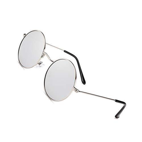 Idyandyans Männer Frauen Runde Metallrahmen Sonnenbrillen Kreis-Harz-Objektiv UV-Schutz Eyewears Unisex Frauen männlich Sun Glasses