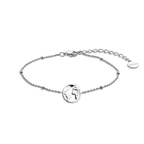 Xenox XS2986 Armband Damen Silver Wanderlust Weltkugel