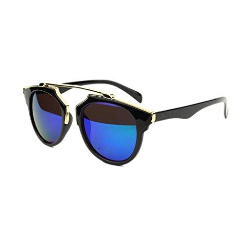 ELENXS Fashion Unisex Klassisch Metall Sonnenbrillen Aviator Brillen Brillen UV-Schutz NO.5 (Aviator Sonnenbrillen, 53mm)