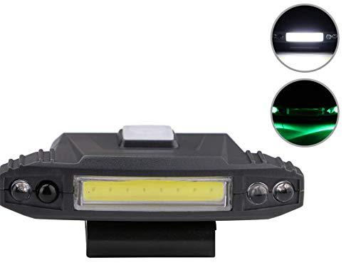 Montiert, Outdoor-licht (SDSLFJJCX Starke Lichtsensor Kappe Clip Licht USB-Lade-Kopf montiert Outdoor-Scheinwerfer Beleuchtung Taschenlampe)