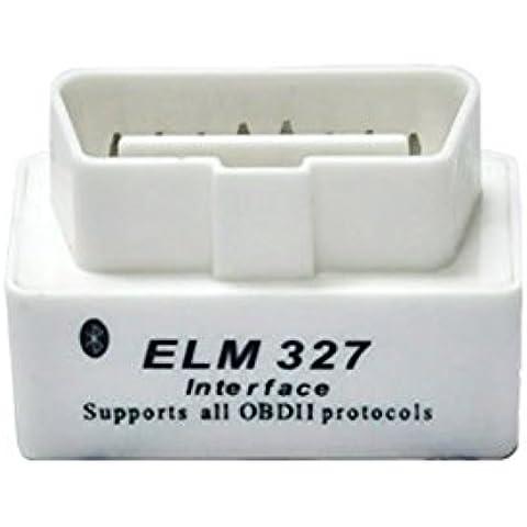 Super mini ELM327-bluetooth v2,1 ultima versione linguistica 12Kinds Coppia su Android e PC, colore: bianco