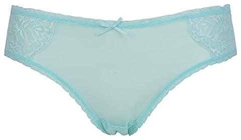 Ex Store Maternity Stretch Mesh & Lace Bikini Knickers Green 12