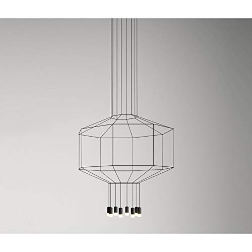 Vibia - Lampe à suspension Vibia Wireflow 8 lumières - Noir