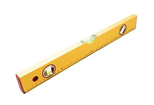 DWT-Germany 100427 3 in 1 Wasserwaage 40 cm 400 mm Länge Vertikale Libelle Horizontale Libelle 45° Grad Libelle