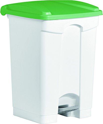"Helit H2402151 - Tret-Abfallbehälter \""the step\"" 45L, grün"