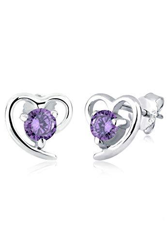Elli Damen Ohrringe Herz Liebe Freundschaft Love Filigran 925 Sterling Silber Zirkonia