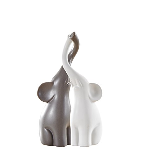 Pure.Lifestyle 2 Elefantes Conjuntos Escultura Animal de Cerámica Decoración Animal de Porcelana...