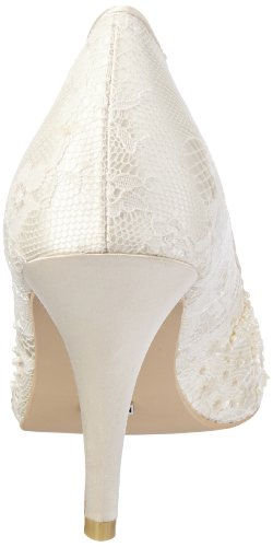 Menbur Wedding Adriana 04612, Escarpins femme Blanc cassé-TR-AF