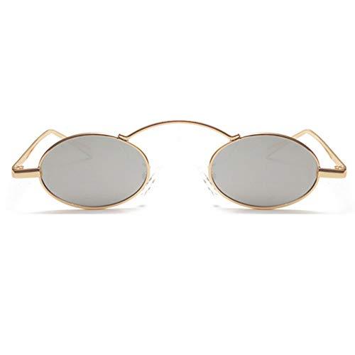 le Kleine Runde SonnenbrilleFrauen Metallrahmen MännerVintage RoteSonnenbrille Mode Männlich Trendy Retro Brille ()