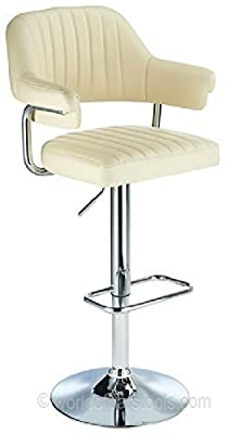 Retro Style Aviator Bar Stool Cream