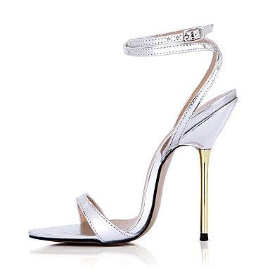 LvYuan Da donna-Sandali-Formale Serata e festa-Cinturino alla caviglia-A stiletto-PU (Poliuretano)-Dorato Argento Silver