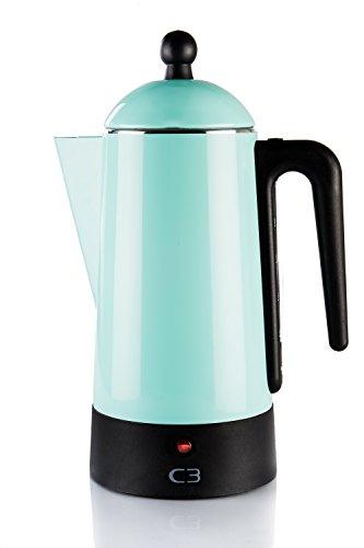 Bialetti 30-30206 Cafetière Design percolateur pour 4-10 Tasses Turquoise