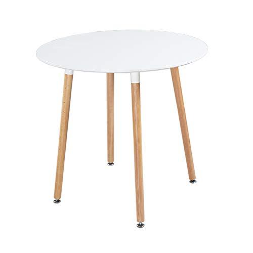 DORAFAIR Rund Holztisch Esstisch Skandinavisch Küchentisch Modern MDF Esszimmertisch,Büro...