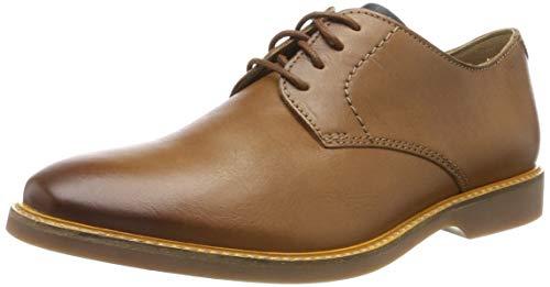 Clarks Atticus Lace, Zapatos de Cordones Derby para Hombre, Marrón Tan, 41.5 EU