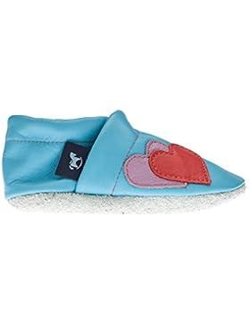 pantau.eu Leder Lauflernschuhe Krabbelschuhe Babyschuhe Lederpuschen mit Herzen