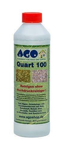 Quart ® 100 Hochkonzentrat Grünbelagentferner 500ml Konzentrat. Gegen Algen und sonstige Grünbeläge auf jedem Material, Chlor- und Säurefrei BAuA-N72912 -