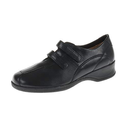 XSENSIBLE Damen Schuhe Halbschuh mit Klettverschluss Lucille Black Schwarz 100603002 (41.5 EU)