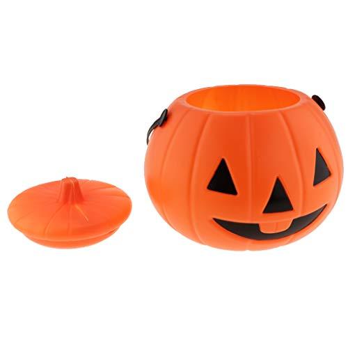 D DOLITY Plastikeimer Halloween Kürbis Eimer Süßigkeiten Korb als Dekoration und Prop