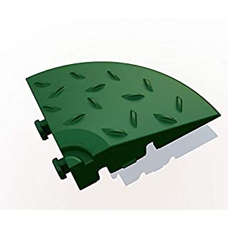 Eckelement für Bodengitter, Balkonfliese, Rasenfliese, Bodenrost, Terrassenfliese, 60 x 60 x 18 mm, aus Kunststoff, ab 4 Stück (4, grün)