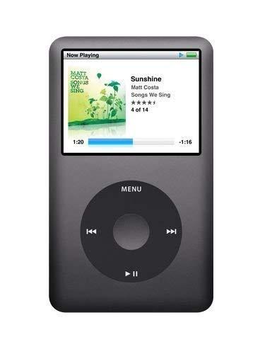 Apple iPod Classic 120 GB schwarz MP3 Player Musik Player (120 GB, Schwarz)
