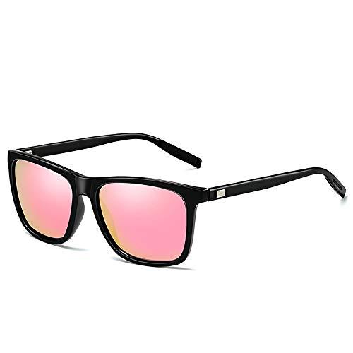 WULE-Sunglasses Unisex Aluminium Magnesium Schwarz Rahmen Reitbrille Weiblich UV400 Schutz Herren Polarisierte Sonnenbrille (Farbe : Gray)