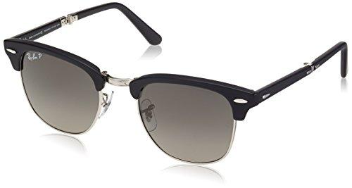Ray Ban Unisex Sonnenbrille Clubmaster Folding, Gr. Small (Herstellergröße: 51), Schwarz (schwarz 901SM8)