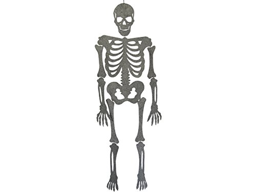 Skelett Grau Eva mit Glitzer 155 cm.