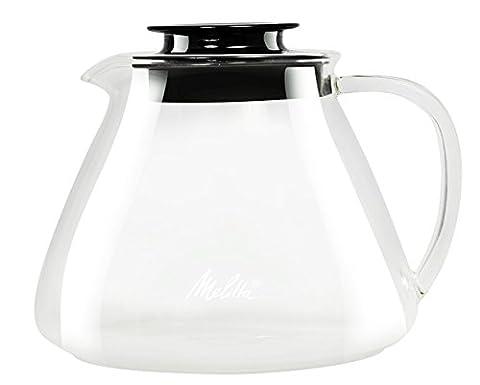 Melitta 4006508217625 Verseuse en Verre, pour la Préparation Manuelle de Café, Compatible avec Porte-filtre, Poignée Anti-brûlure, 0,7 L, pour Over, Transparent