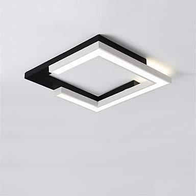 LED Deckenleuchte Lineare Geometrische Einbauleuchten Downlight Lackierte Oberflächen Metall LED, 110-240V Weiß Für Wohnzimmer Schlafzimmer Küche Esszimmer, 60Cm -