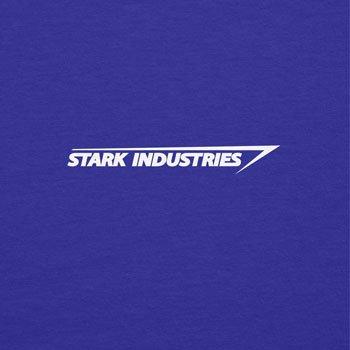 TEXLAB - Stark Industries Logo - Langarm T-Shirt Marine
