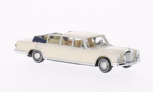 Mercedes 600 Landaulet, weiss, Modellauto, Fertigmodell, Brekina Starmada 1:87