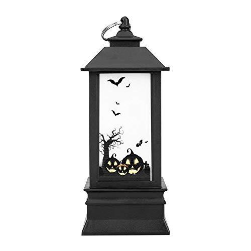 Haofy Halloween Lichter, Simulation Flamme Kleine Öllampe Kerze LED Teelicht Flammenlos, Kürbis, Schloss, Geister Muster Halloween Party Festival Decor LED 3 AAA Batterie betrieben (Kürbis)