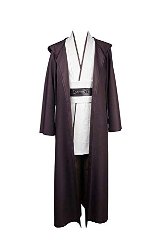 Star Wars Kenobi Jedi TUNIC Hooded Robe Costume Cosplay european adult Male Size