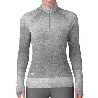adidas Rangewear Half-Zip Layering Golf Pullover, Damen M grau