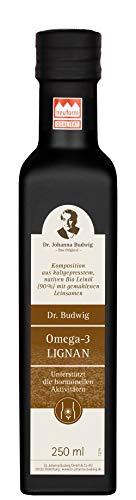 Dr. Budwig Omega-3 Lignan - Das Original - für eine gesunde Blasen- und Prostatafunktion, 250 ml