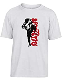 T-Shirt para ninos Blanco TBOXE0033 Muay Thai Fighter