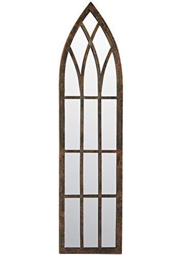 Metal rústico Exterior Espejo - gótico Arco Delgado Espejo