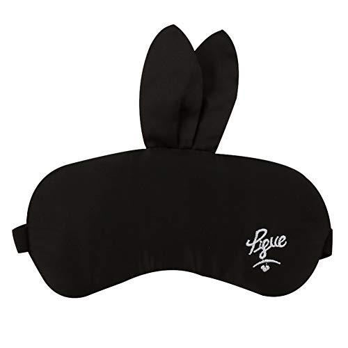 MSYOU Schlafmaske, einfache Cartoon-Maus-Form, Schattierung, Augenmaske, lindert Ermüdung der Augen, Nacht, Reisen, für Männer und Frauen, Kinderschlafausrüstung (schwarz)