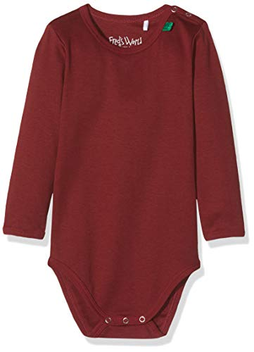 Fred's World by Green Cotton Baby-Mädchen T-Shirt Star solid Body Rot (Bordeaux 019172401), Herstellergröße:80 (Rot Body-shirt)