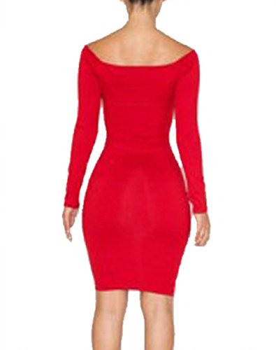 Valin Rote Hohl Saum vorne Sexy Bodycon Kleid.,Rot Rot