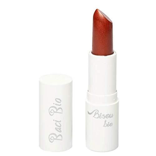 BISOU BIO - Rouge à lèvres 02 - Brique - Texture crémeuse, hydratante et lumineuse - Arôme vanille - Aux huiles naturelles et au beurre végétal