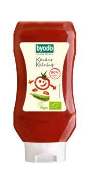 Byodo Bio Kinder Ketchup, 80{98c159eec155d71d2d3c69026cbe25ae496849e2aac677b33e2eadc119f10d21} Tomate (2 x 300 ml)